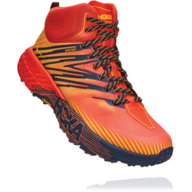 Hoka One One Speedgoat 2 GTX Mid Boots Men mandarin red/gold fusion